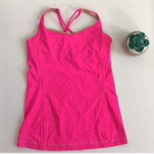 Lululemon | Free to be tank top in raspberry glo
